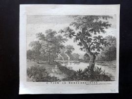 D. Ash (Pub) C1790 Antique Print. A View in Herefordshire